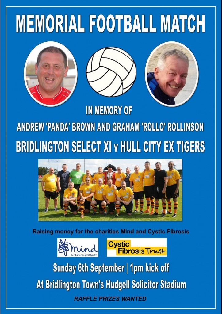 Andrew Brown & Graham Rollinson, Memorial Football Match, Bridlington AFC v Hull City Ex Tigers 2